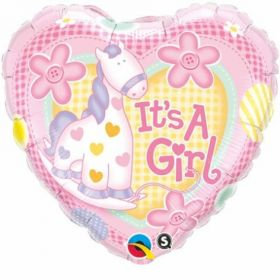Balons It`s A Girl Soft Pony